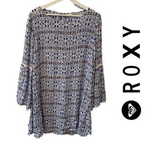 Roxy Bell Sleeve Swing Dress
